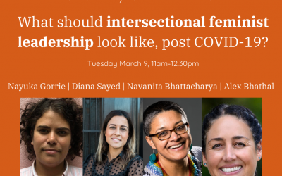 "Diana Sayed on the WIRE IWD Panel ""What should intersectional feminist leadership look like, post COVID-19"""